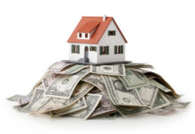 Picture of house and money